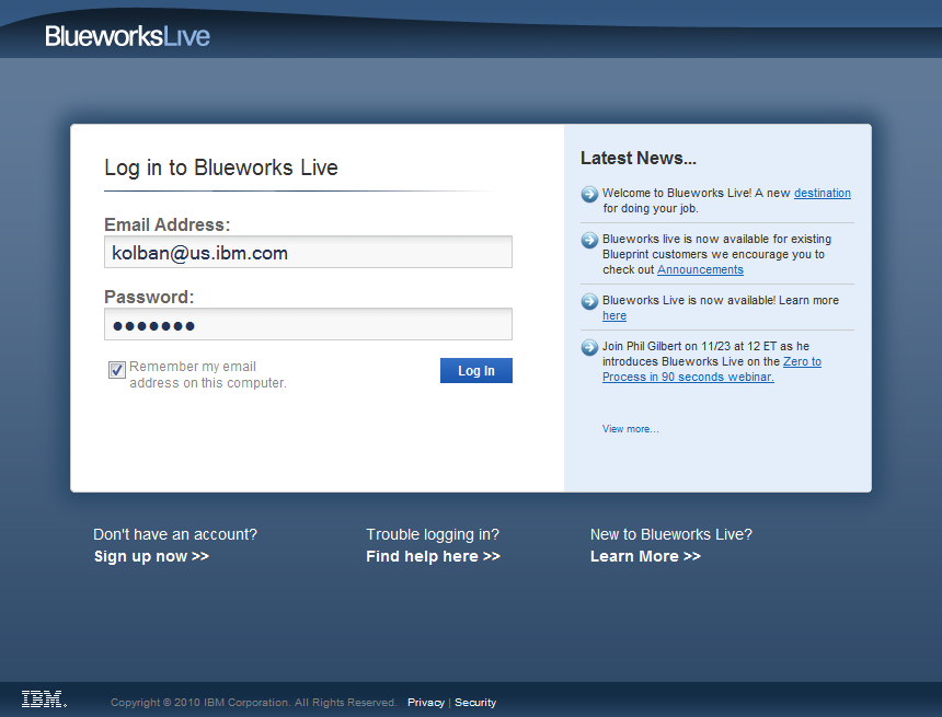 Blueworks live wiki after logging in you will be taken into the primary tool itself malvernweather Gallery